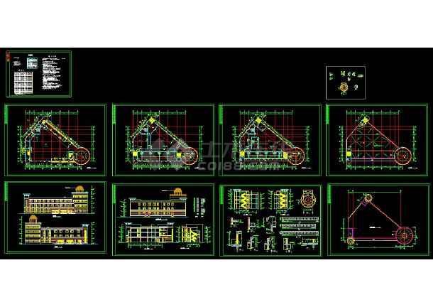 点击查看某小区高档会所建筑设计CAD施工图第1张大图