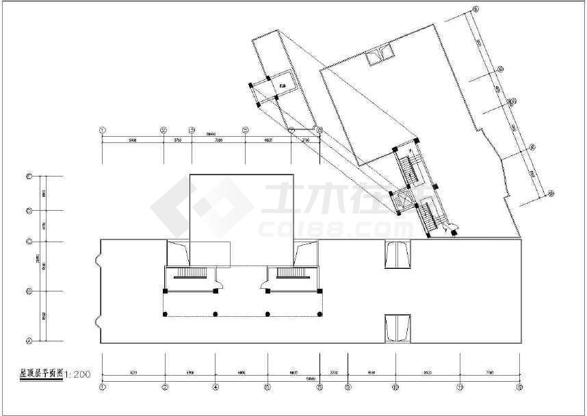点击查看某地时代广场建筑图纸(标注详细)第1张大图