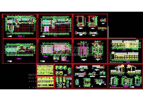 点击查看某市区太湖古建筑CAD详细图纸(四)第1张大图