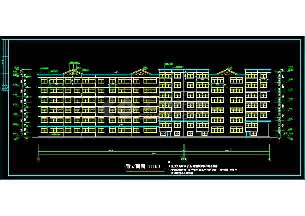 某地一处住宅建筑的CAD设计图纸-图二