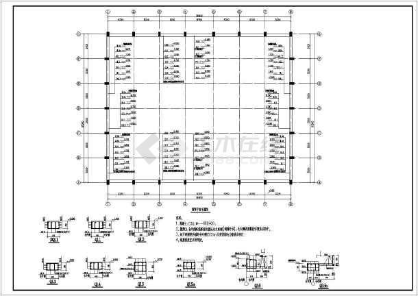 2017某排架结构平房粮仓结构CAD图纸(含设计说明)-图2