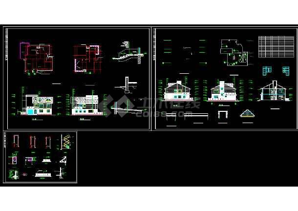 点击查看某城市精美荷兰式别墅小区CAD设计图第1张大图