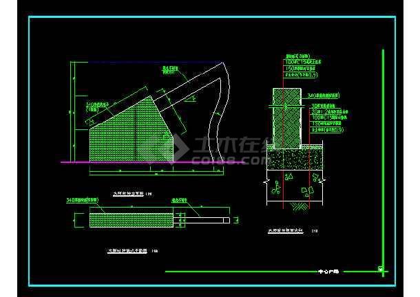 雕塑、休闲、城市广场建筑施工设计CAD大样图-图1