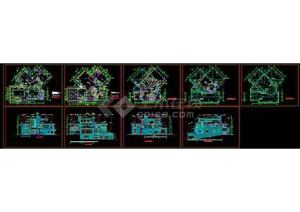 点击查看北京某经典别墅建筑CAD设计全套施工图纸第1张大图