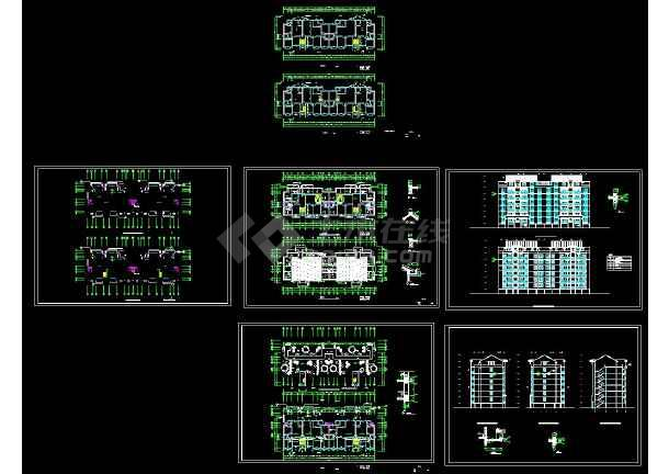 某地多层复式住宅建筑设计CAD施工图-图一