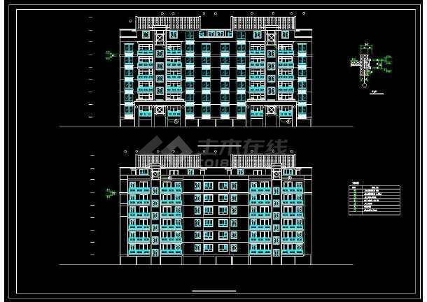 某地多层复式住宅建筑设计CAD施工图-图二