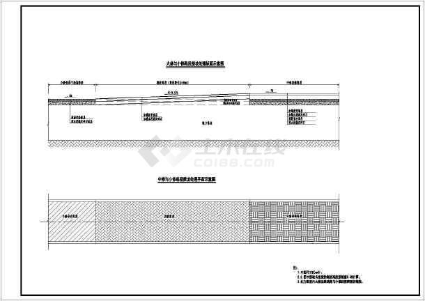 某城镇道路改造工程设计图纸-图1