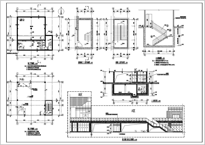 某地消防水池施工图(建筑+结构)图片3