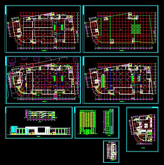某大型商场设计施工全套CAD方案图图片1