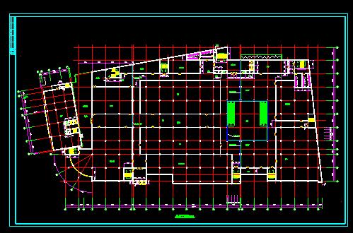 某大型商场设计施工全套CAD方案图图片2