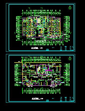 经典高层住宅楼地下室cad施工平面图图片1