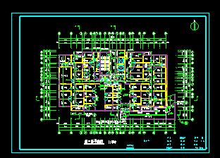 经典高层住宅楼地下室cad施工平面图图片2