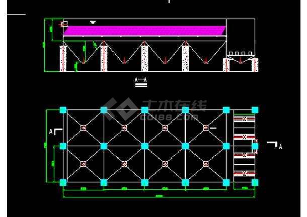 某工程钢厂用化学除油器CAD设计图纸-图1