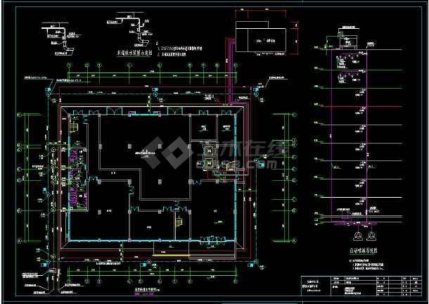 一套完整大楼给排水cad结构施工图(含设计说明)-图1
