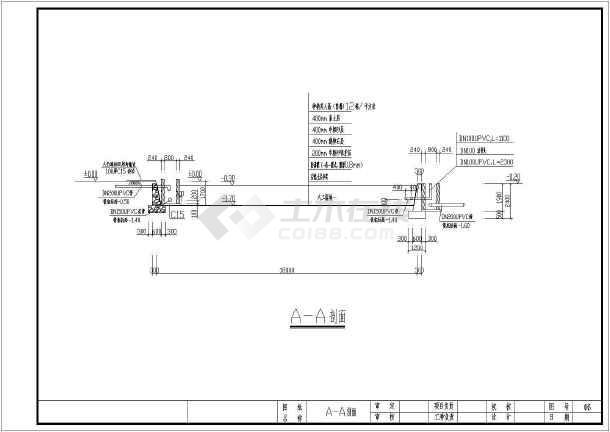 日处理30方生活污水人工湿地工艺CAD施工图(含设计说明)-图2