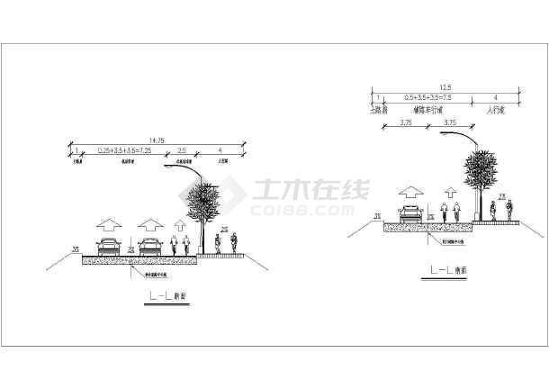 广西昆仑大道立交桥CAD平面布置图 -图3