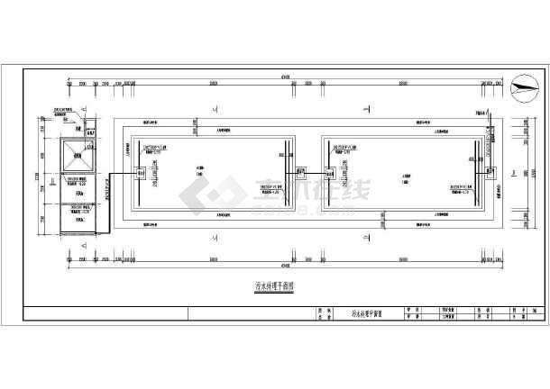 人工湿地日处理60方生活污水CAD施工图(含设计说明)-图2