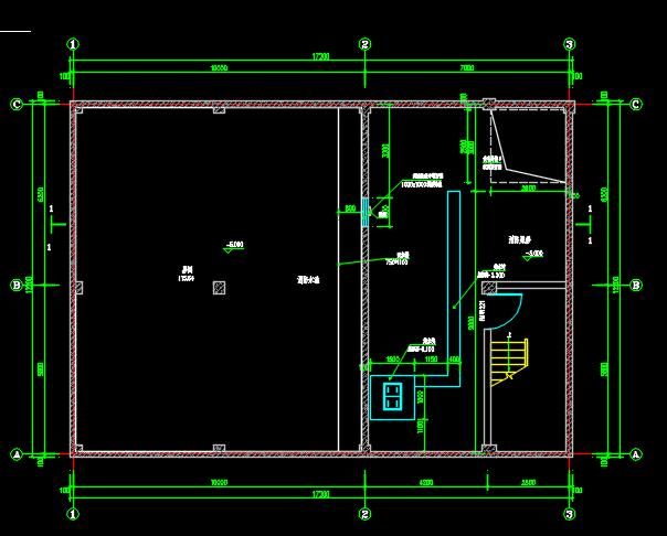 某建筑配套消防水池及泵房建筑结构水设计图图片3
