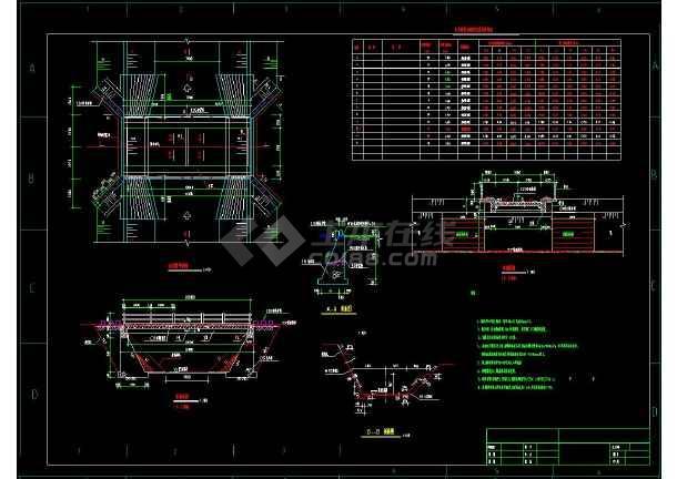 全套跨渠道公路桥和人行桥cad施工设计方案图-图1