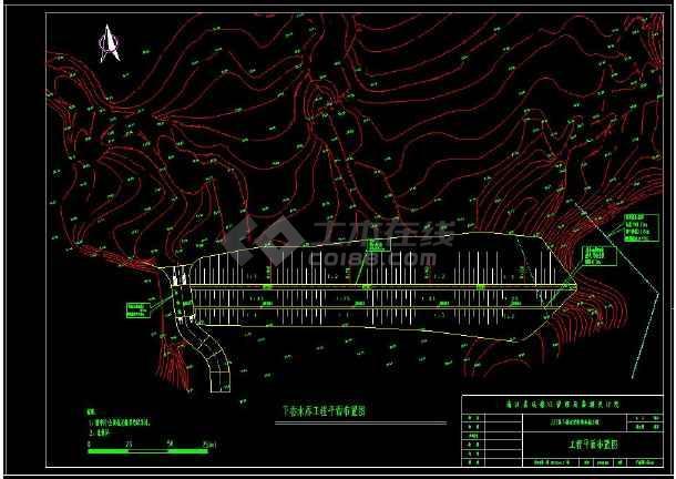 某水库除险加固设计工程cad施工图-图1