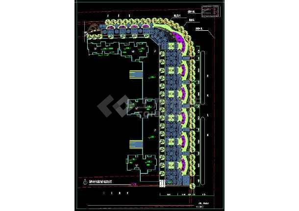 某住宅小区景观规划设计CAD平面施工图-图1