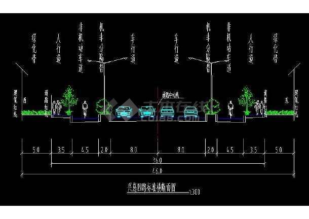 某地市政道路全套方案cad设计施工图-图3