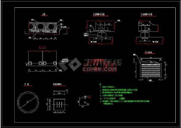 某桥梁支座布置及构造全套CAD设计图纸-图3