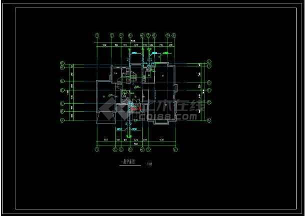 某地特色独栋小别墅给排水方案设计CAD图(含设计说明)-图1