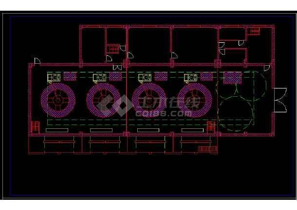 某水利发电站厂房cad设计建筑图纸-图1
