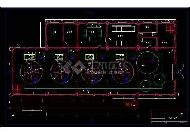 某水利发电站厂房cad设计建筑图纸-图2