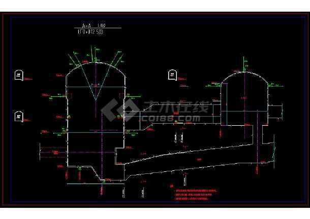 某水电站地下厂房监测全套cad施工图纸-图3