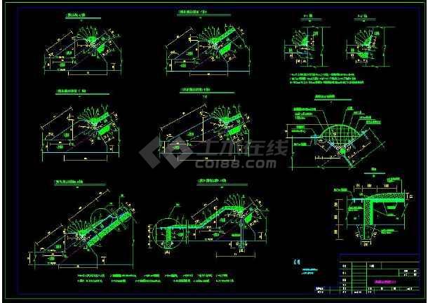 某水利工程接缝止水cad设计施工方案图-图1