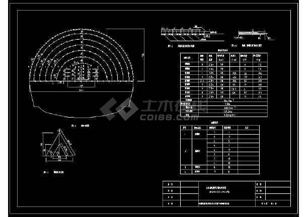 某隧道爆破设计网络布置CAD方案图-图3