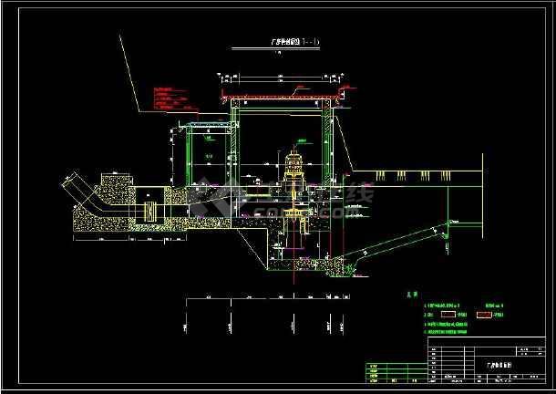 某水利电站厂房详细设计cad建筑施工图-图1