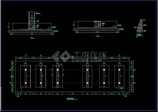 通用拱桥cad施工大样设计方案图-图3