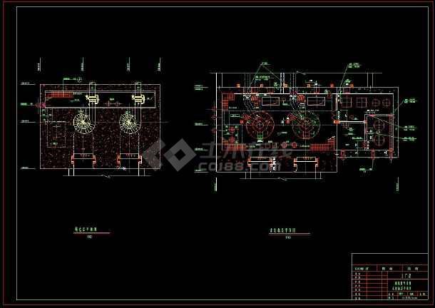 某水电站全套建筑设计方案cad施工图(含设计说明)-图1