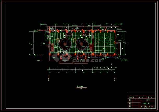 某水电站全套建筑设计方案cad施工图(含设计说明)-图2