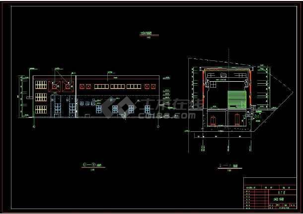某水电站全套建筑设计方案cad施工图(含设计说明)-图3
