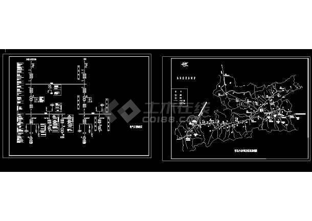 某变电站设计cad全套电气原理图-图二
