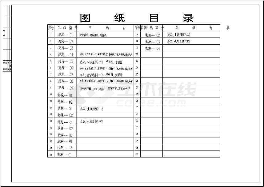 小三峡工程施工期建筑图纸(含设计说明)-图2