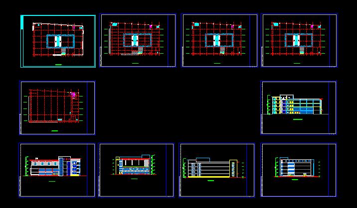 某商场设计施工CAD方案平立面图图片1