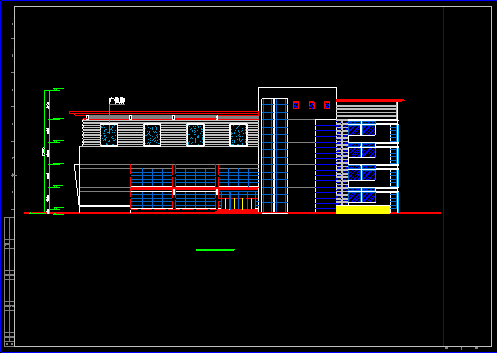 某商场设计施工CAD方案平立面图图片2
