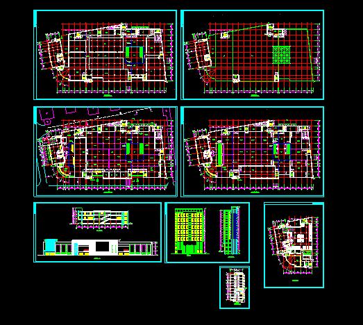 某大型商场设计施工CAD平立面方案图图片1