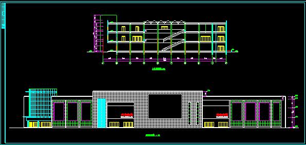 某大型商场设计施工CAD平立面方案图图片2