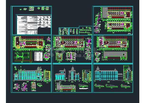 点击查看某社保局建筑结构施工图及建筑效果图第2张大图