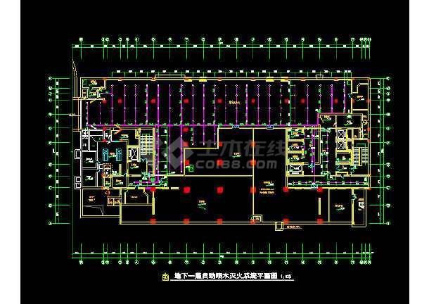 某人防人员掩蔽部和急救医院cad建筑设计施工图-图1