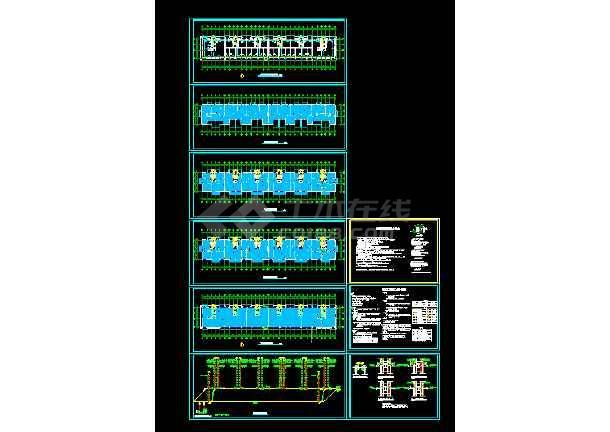 阁楼25层地暖cad平面设计施工图-图1