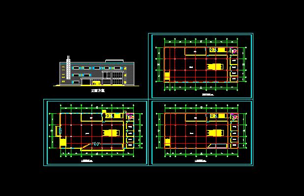 某商场设计方案施工CAD平立面图纸图片1