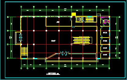 某商场设计方案施工CAD平立面图纸图片3