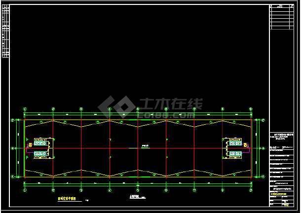 某厂房全套MDV设计cad施工平面设计图-图2